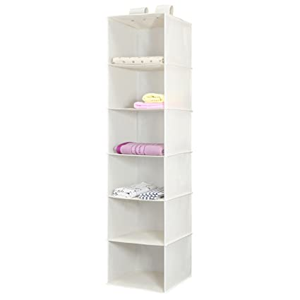 Delicieux Hanging Closet Organizer, Magicfly 6 Shelf Hanging Clothes Storage Box  Polypropylene Collapsible Hanging Shelves