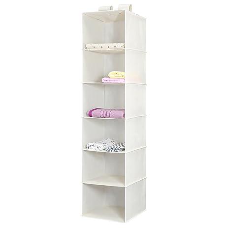 hanging closet organizer magicfly 6shelf hanging clothes storage box collapsible hanging shelves