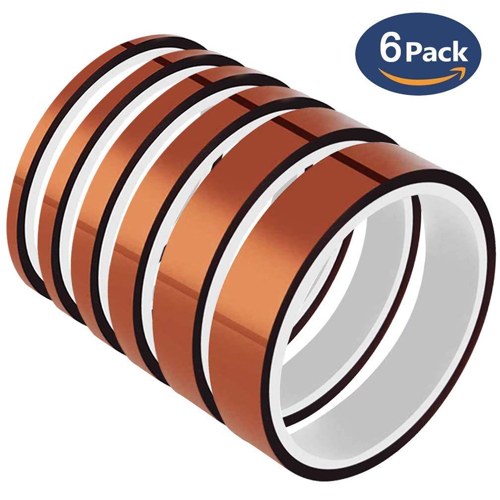 20 mm x 20 m 3 rollos cinta de calor para enmascarar y soldar cinta de alta temperatura SACONELL Cinta resistente al calor de alta temperatura cinta de sublimaci/ón