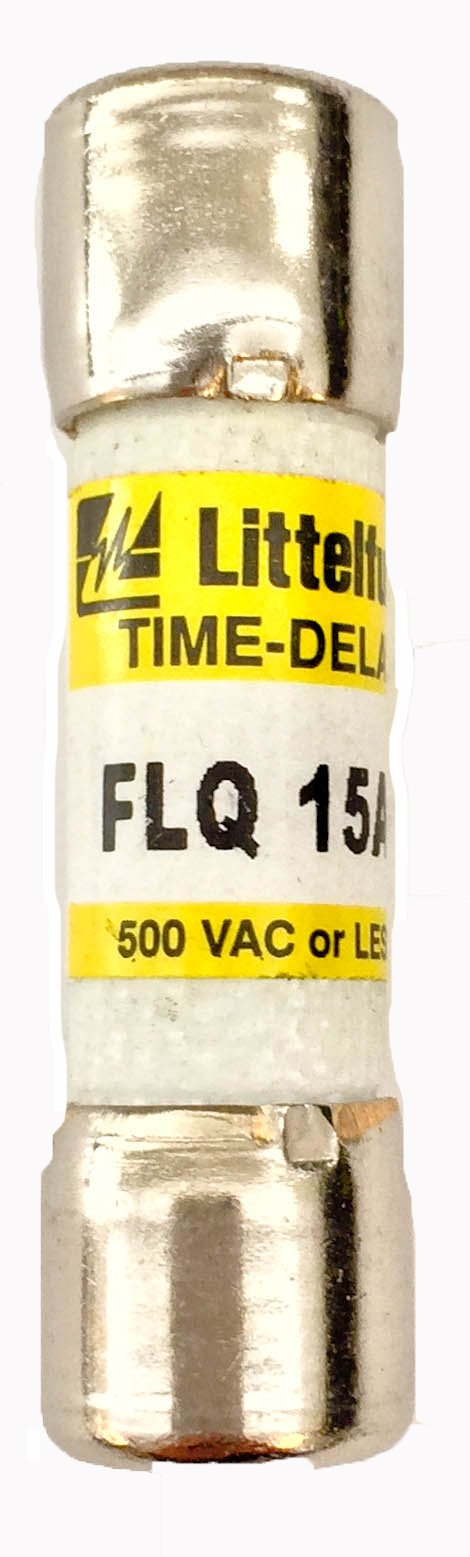 Littelfuse 0FLQ015.T Midget Fuse, Time Delay, 500V, 15 Amp (Pack of 10)
