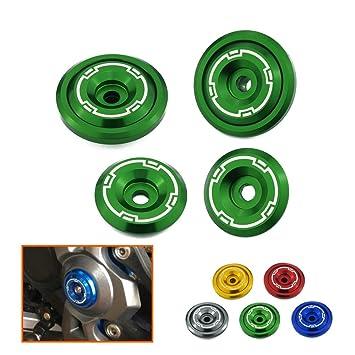 Heinmo - Embellecedores para chasis de aluminio CNC - Tornillos 5M - Aptos para motocicletas Kawasaki