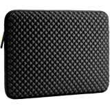 Evecase 17-17.3 pollici Diamante Schiuma Neoprene Laptop Sleeve/Custodia/Borsa da Viaggio per Chromebook/Ultrabook/Notebook/PC/Computer Portatile - Nero