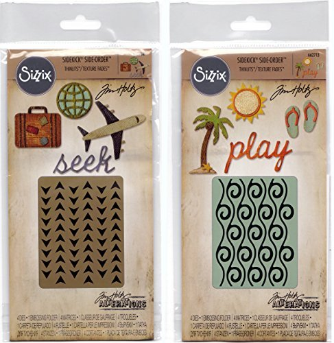 Tim Holtz Alterations - Sizzix Sidekick Side Orders - Beach and Travel Sets by Tim Holtz