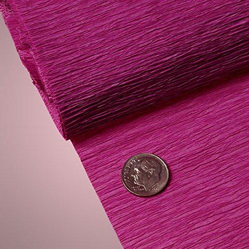 PREMIUM COLORED CREPE PAPER - Top quality Italian paper craft (Fuchsia)