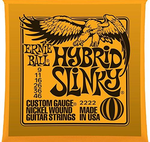 Ernie Ball 2222 Hybrid Slinky Nickel Wound Set Electric Guitar Strings - 2 PACK