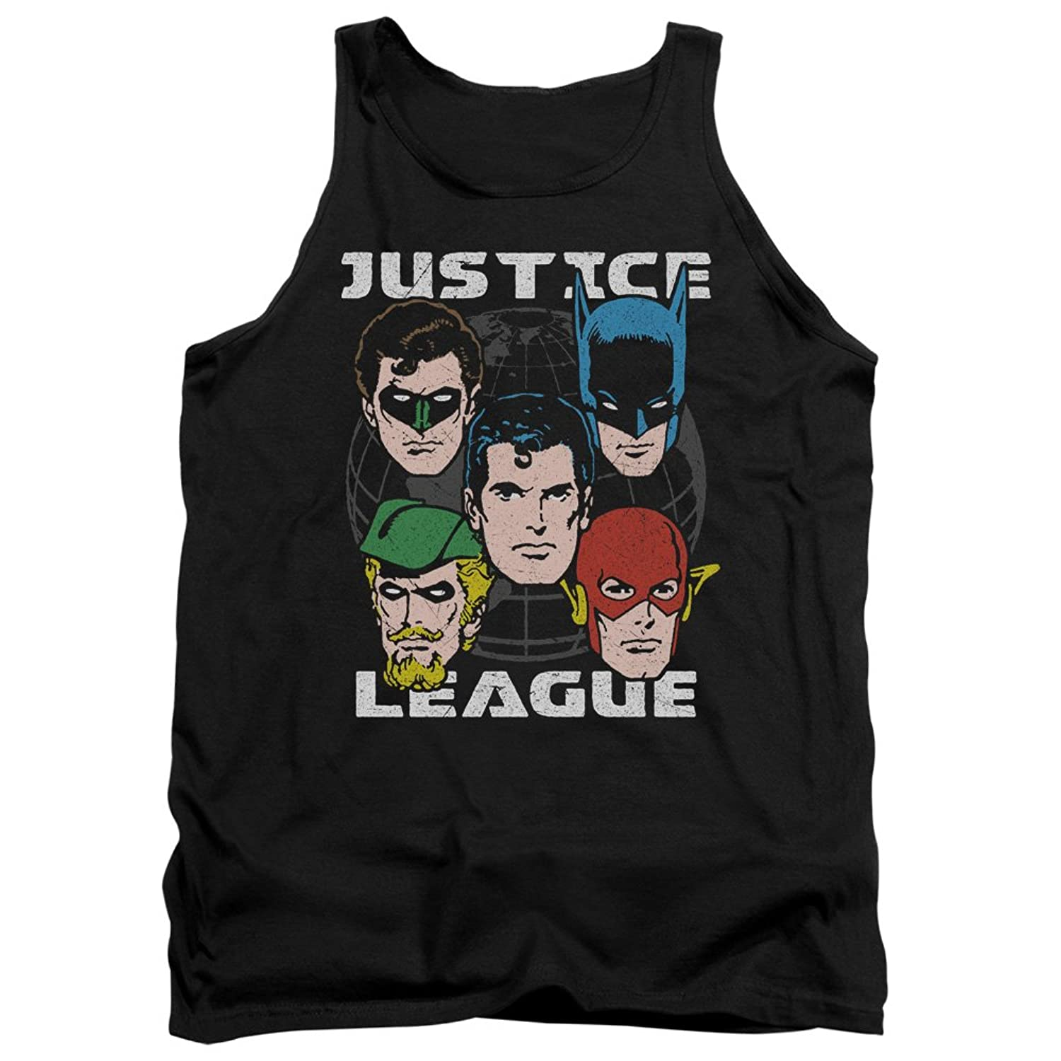 DC Comics Justic League Of America World's Heroes Adult Tank Top Shirt