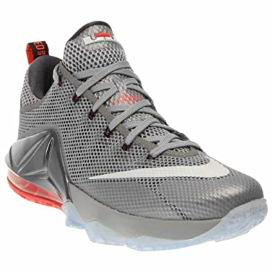 Nike LeBron XII Low Men's Basketball Shoes 724557-014 Wolf Grey White-Dark  Grey