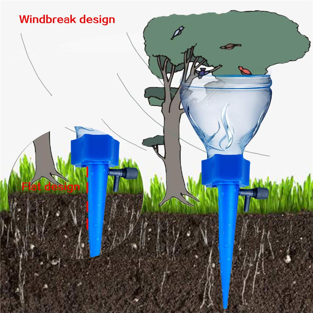 Pathside 8PCS Plant Water Automatic Irrigation Watering Stakes Garden Cone Watering Spikes Waterers Bottle Irrigation System Green