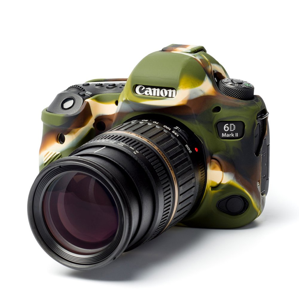 Camuflaje Easy Silicona Cover Case para Canon 6d Mark II con LCD de Pel/ícula Proteger