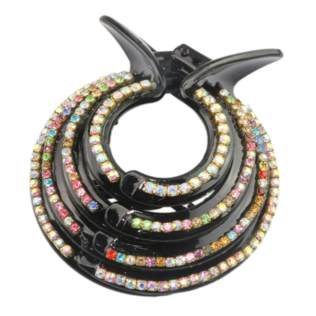 Women Crystal Rhinestone Hair Claw Diamante Hair Clip Clamp Ponytail Holder