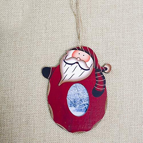 Hot Sale!DEESEE(TM)Snowman Wood Embellishments Rustic Christmas Photo Frame