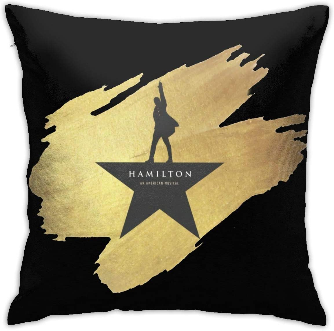 KarleDeal Hamilton The Musical Pillowcase Fashion Square Throw Pillow Covers Home Office Pillow 18 Inch18 Inch