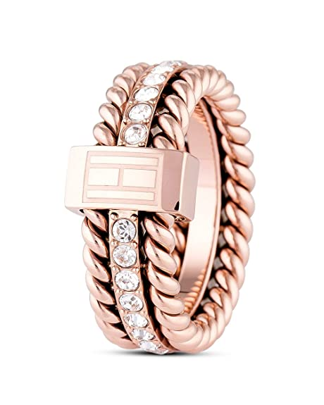 TOMMY HILFIGER CLASSIC SIGNATURE, Ring, roségoldfarben