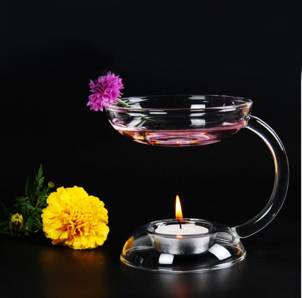 Candelabro Candelero Cristal Mesa Titular Vela Quemador Aceite Aroma Estufa Decoración: Amazon.es: Hogar