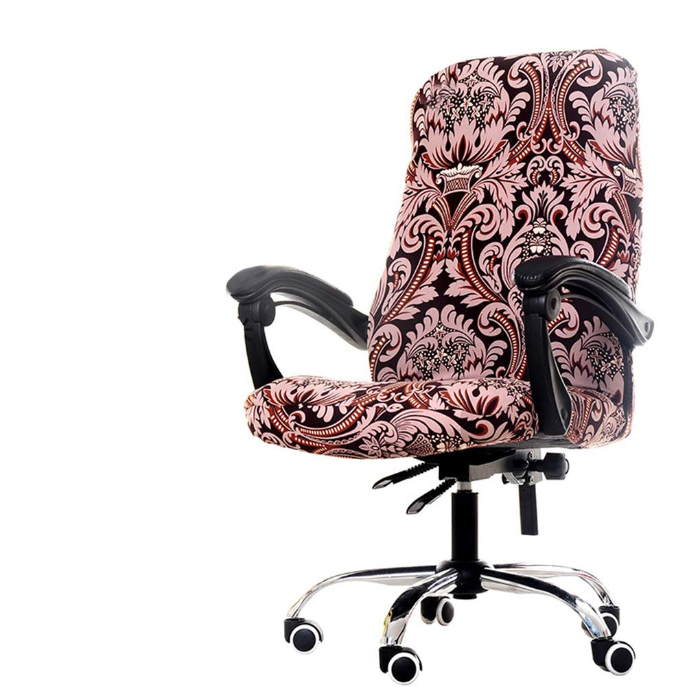 Deisy Dee Computer Office Chair Covers for Stretch Rotating Mid Back Chair Slipcovers Cover ONLY Chair Covers C162 (Totam) by Deisy Dee