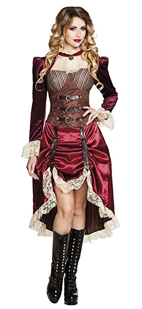 shoperama Lady Steam Punk Disfraz para Mujer Vestido Victoriano