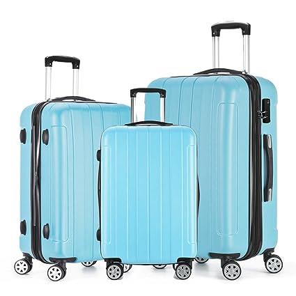 c99473d03 Fochier Luggage 3 Piece Set Expandable Hard Shell Spinner Suitcase  Lightweight TSA Lock(20