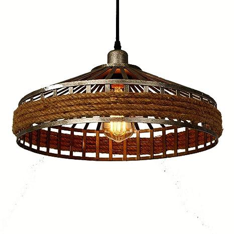 Lámpara de techo de bronce con cuerdas decorativas, estilo ...