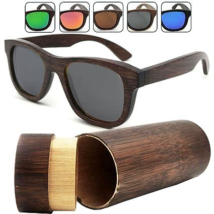 Amazon.com: isunhot 1-Pack Negro Lente Madera de Bambú ...