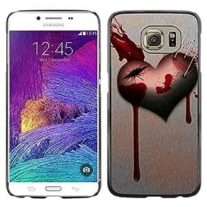 Caucho caso de Shell duro de la cubierta de accesorios de protección BY RAYDREAMMM - Samsung Galaxy S6 - Love Goth Heart