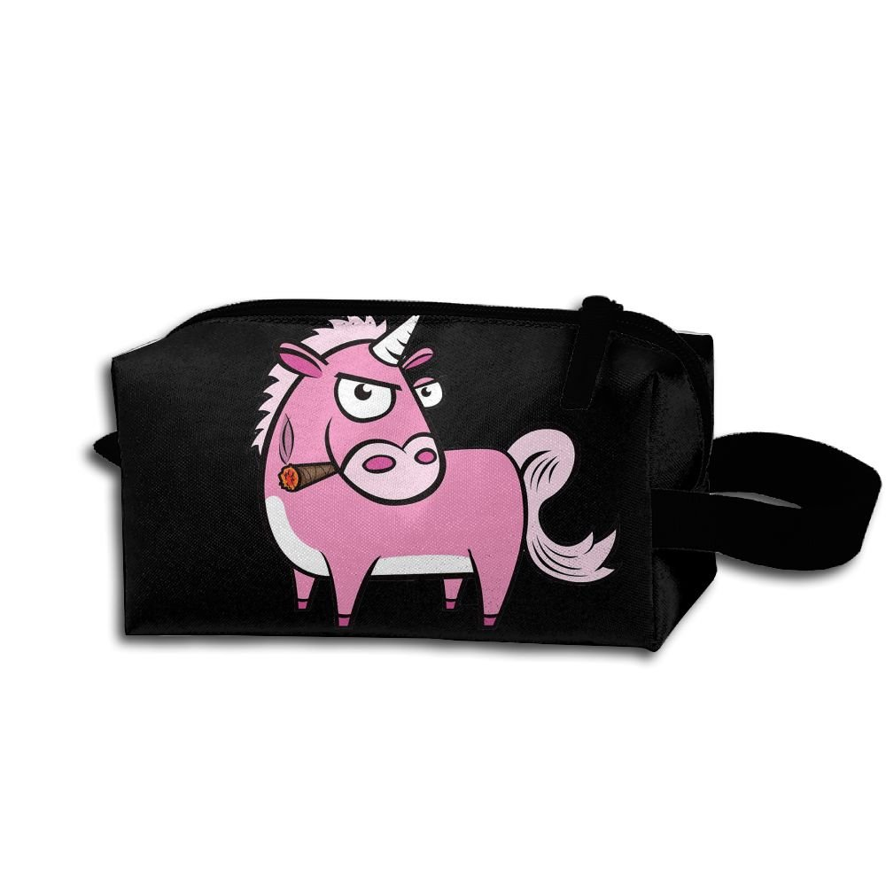 550a63260383 60%OFF WYFG Smoking Unicorn Multifunction Makeup Bag Travel Cosmetic ...