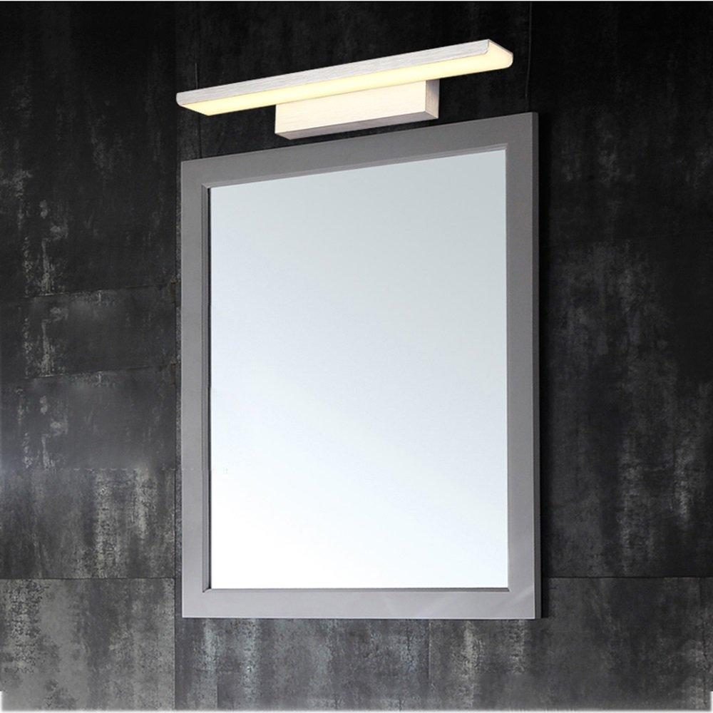 JXXDQ -Badezimmerbe leuchtung LED-Badezimmer-Spiegel-Schlafzimmer-Spiegel, der wasserdichte Antibeschlag-Aluminiumwand-Lampe beleuchtet -langlebig (Farbe   Warm light-Silber)