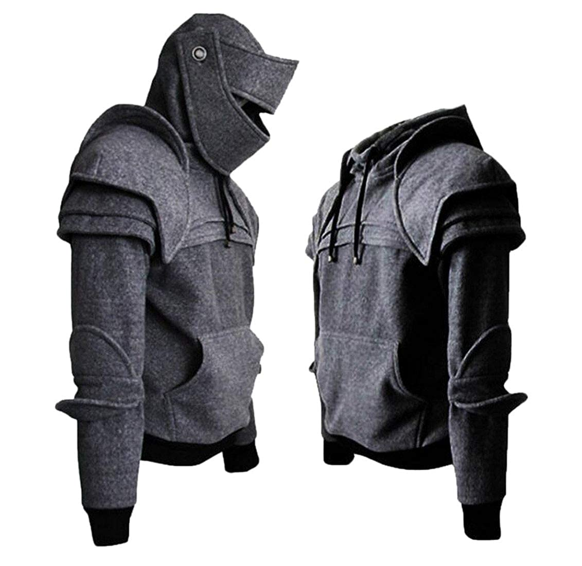 Sweatwater Mens Pullover Top Hooded Solid Color Fit Rider Sweatshirts