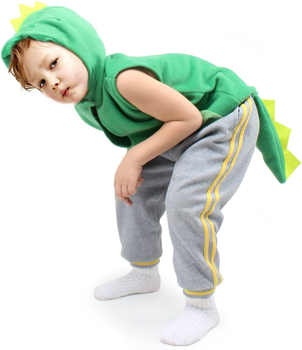Dress up imaginative play costume baby Toddler girls dragon vest with hood for Boys