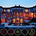 Laser Lights Halloween Christmas LED Projector Lights Garden Spotlight lights with RF Wireless Remote RED and GREEN IP65 Waterproof Outdoor Indoor Party Holiday lights Decoration ( 2017 NEW )