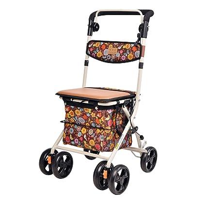 Multi-function trolley El Carrito de Compras Plegable Viejo del Carro de la Compra del