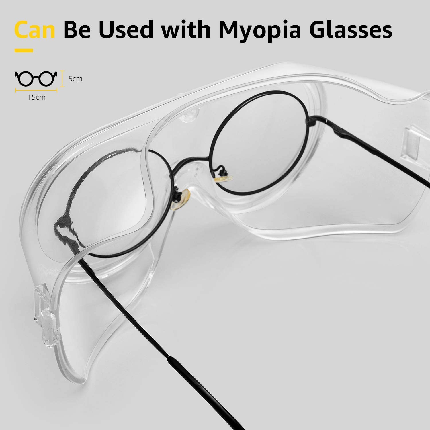 Soft Crystal Clear Eye Protection Protective Safety Glasses Safety ...