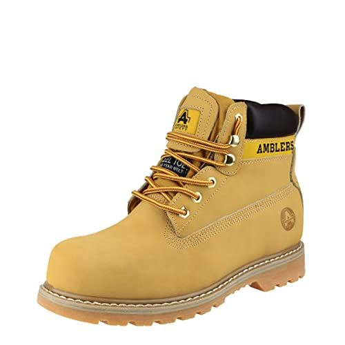 b1b0b976a68 Amblers Safety FS7 Unisex SB P SRA Steel Safety Boots Honey: Amazon ...