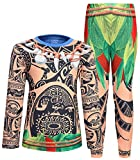 AmzBarley Halloween Maui Costume for Little Boys Pajamas Sets Kids Clothes Party Dress up Age 2-3 Years Size 2T