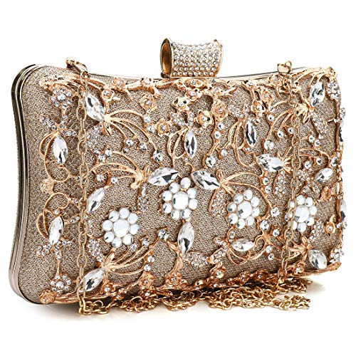 Puedo Crystal Evening Clutch Bag Wedding Purse Bridal Prom Handbag Party Bag