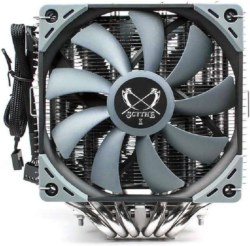 Scythe Fuma 2 120mm Air CPU Cooler, Intel LGA1151, AMD AM4/Ryzen, Dual Towers and Fans, Black Top Cover