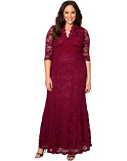 6c80ffc30cd0d Kiyonna Women s Plus Size Special Edition Leona Lace Gown at Amazon ...