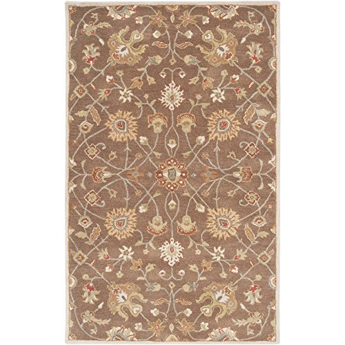 (Surya CAE1086-23 Floral Traditional Area Rug, 2 by 3-Feet, Brown)