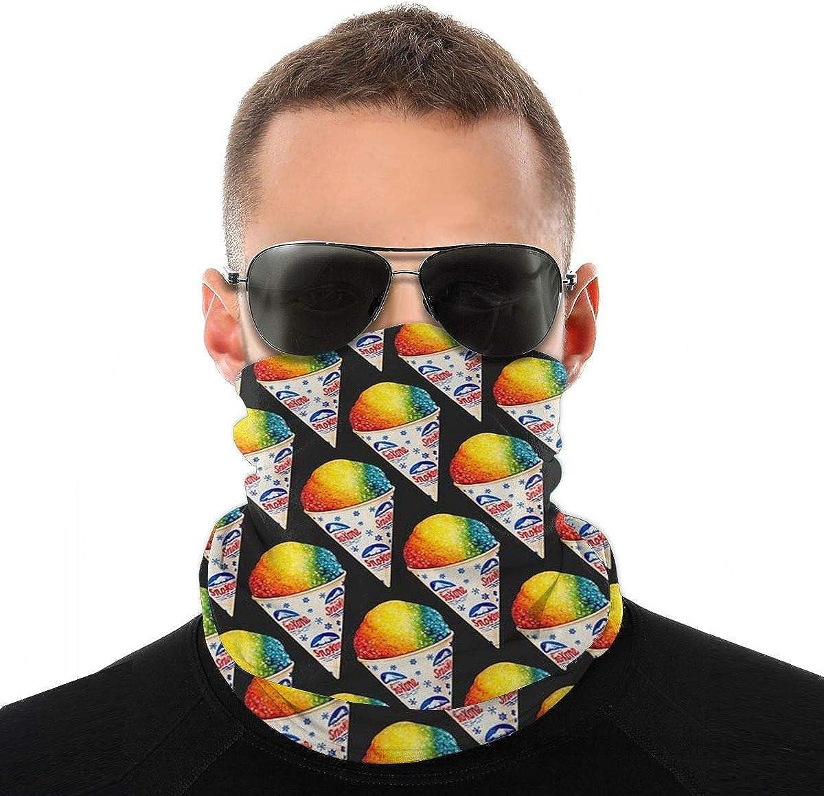 Dasoc Snow Cone Pizza.Jpg Bandana Unisex Cuello Manguito Protección facial Bufanda Protección solar UV Polvo A prueba de viento Sombreros para exteriores