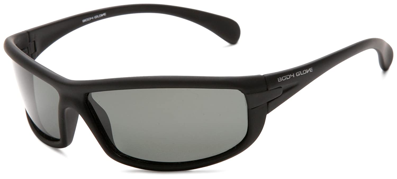 09df13a8c093 Amazon.com: Body Glove QBG1114 Polarized Sport Sunglasses,Matte Black  Rubberized Frame/Smoke Lens,one size: Clothing