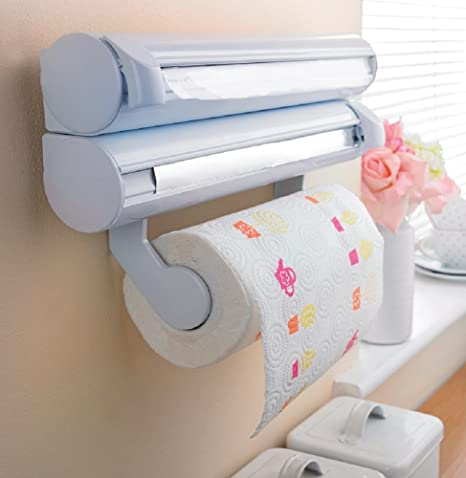 Cocina dispensador de toalla de papel film – Lámina – Montado en la pared organizador