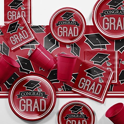 2018 Graduation School Spirit Red Party Supplies Kit