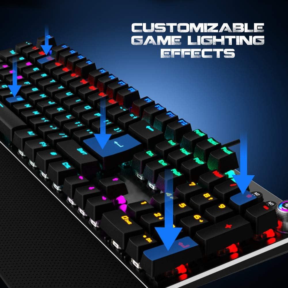 Woxter Stinger RX 1000 Kr - Teclado gaming mecánico, Estructura de aluminio, Micro Switch KRGD, retroiluminado, Anti-Ghosting, cable de nylon, ...