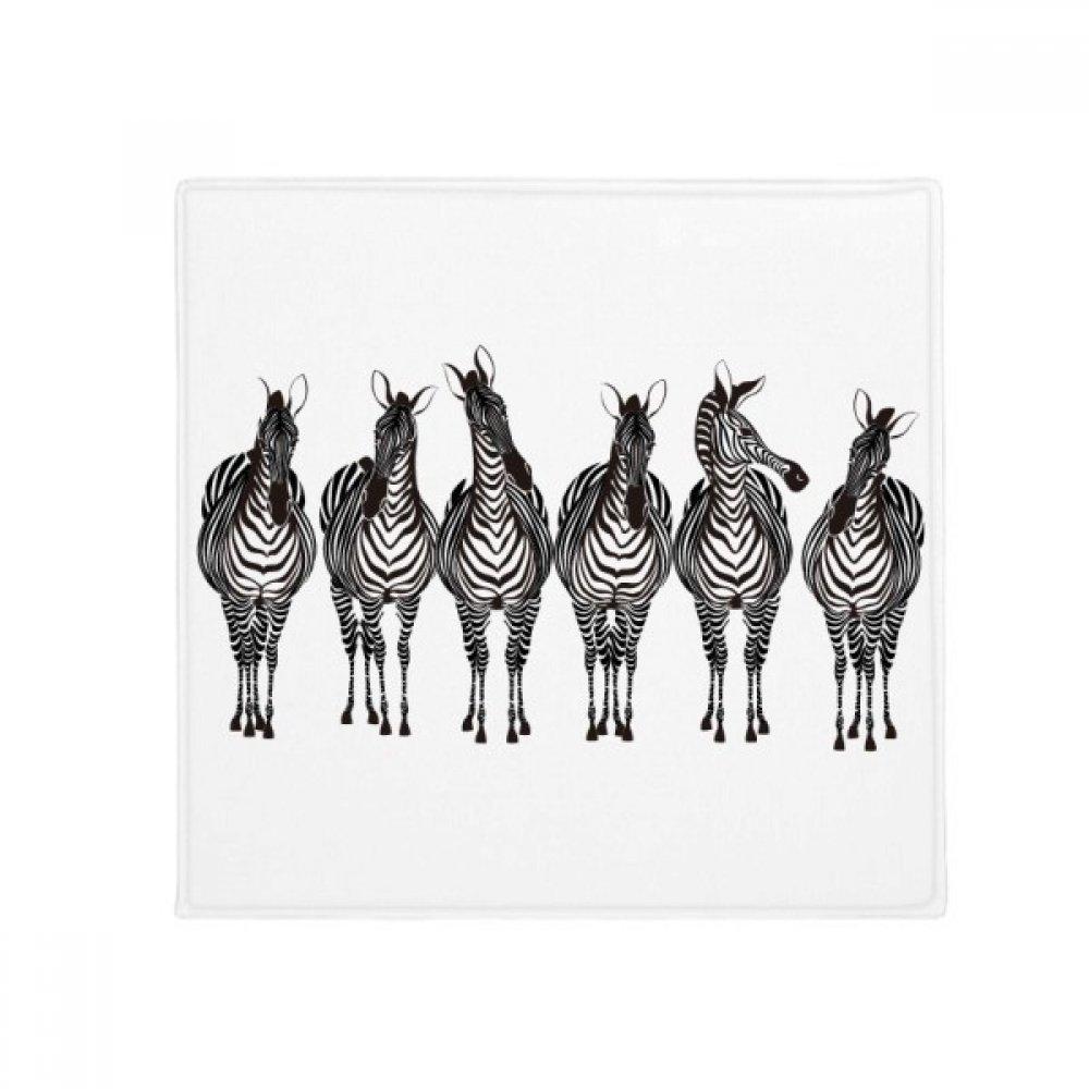 DIYthinker Different Action Zebra Animal Anti-Slip Floor Pet Mat Square Home Kitchen Door 80Cm Gift