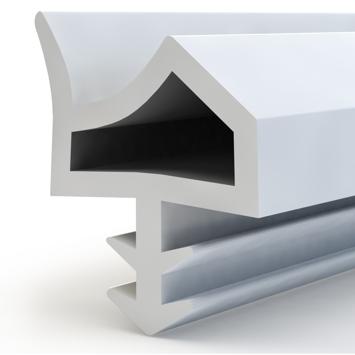 Aluminio STEIGNER Burlete para Puerta y Ventana STD06 10m 12mm Marr/ón Junta de goma Perfil de estanqueidad para ventanas y puertas de PVC Madera