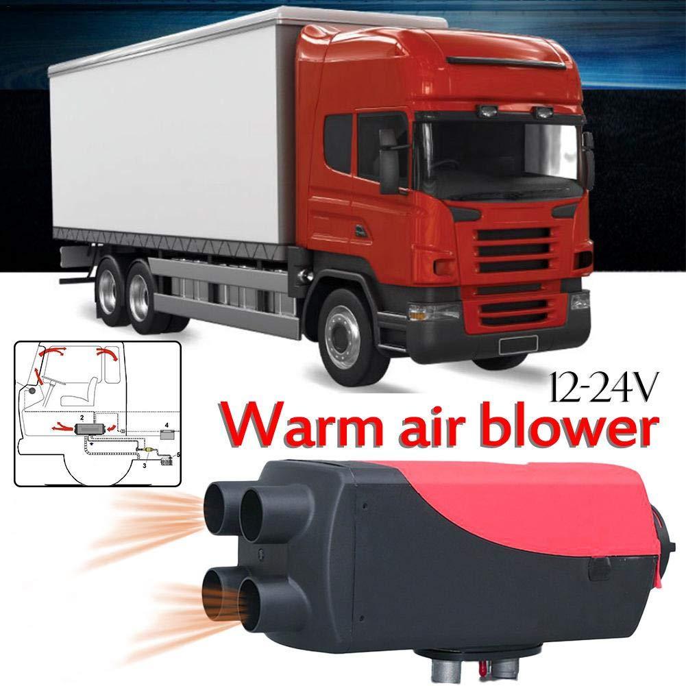 iBellete 5KW Riscaldatore da parcheggio, Riscaldatore di Aria Calda di Aria Calda Diesel per Camion, roulotte, Auto da Campeggio, Barche e Camper (12V / 24V 5KW)