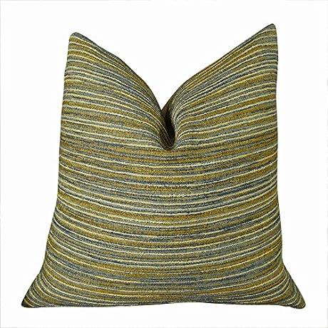Plutus Brands Plutus Elmridge Road Handmade Throw Pillow 20 X 36 King Blue Taupe