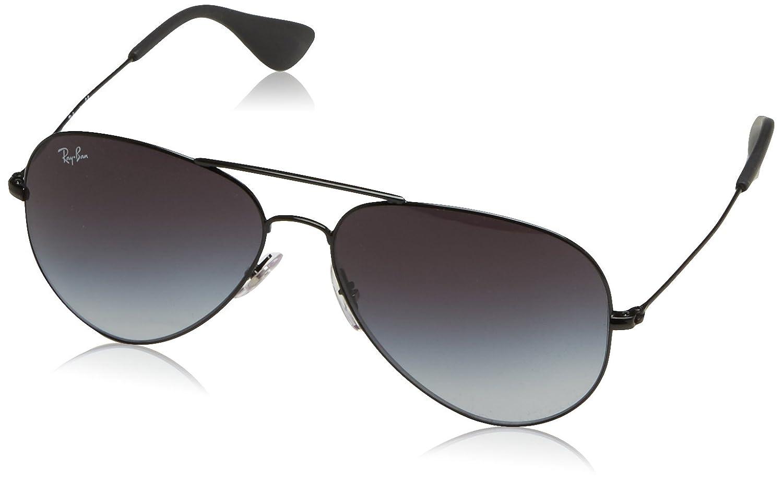 Ray-Ban RB 3558 Gafas de sol, Black, 58 Unisex-Adulto