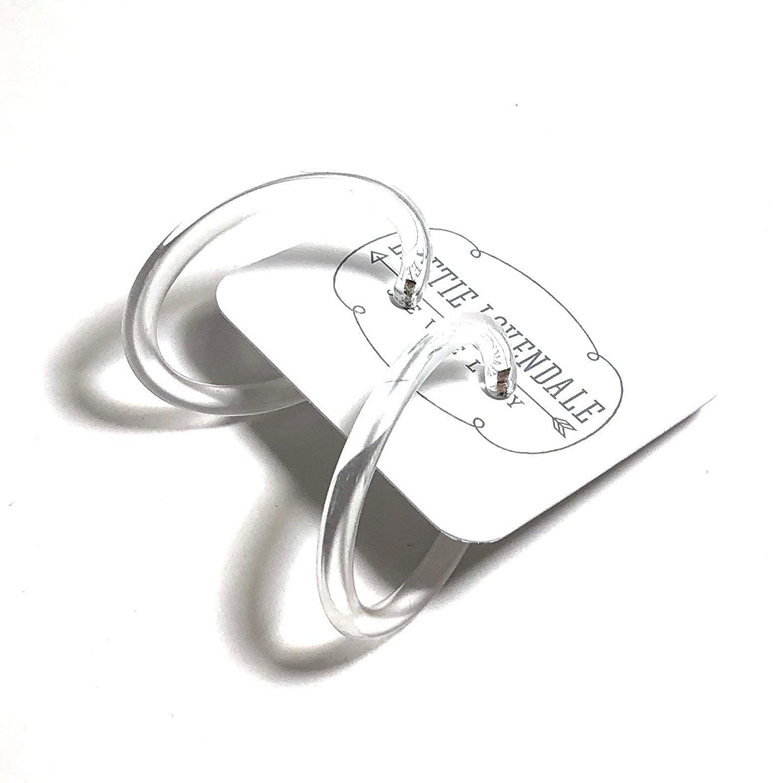 Clear Lucite Hoop Earrings Transparent Crystal Lucite Skinny Acrylic Tube Hoops