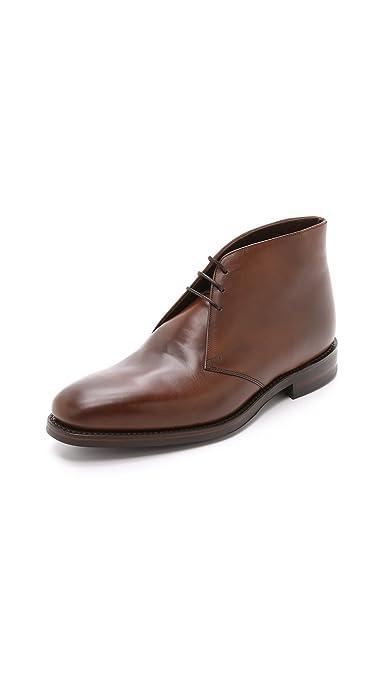 Loake Men's Leather Pimlico Chukka Boots Dark Brown