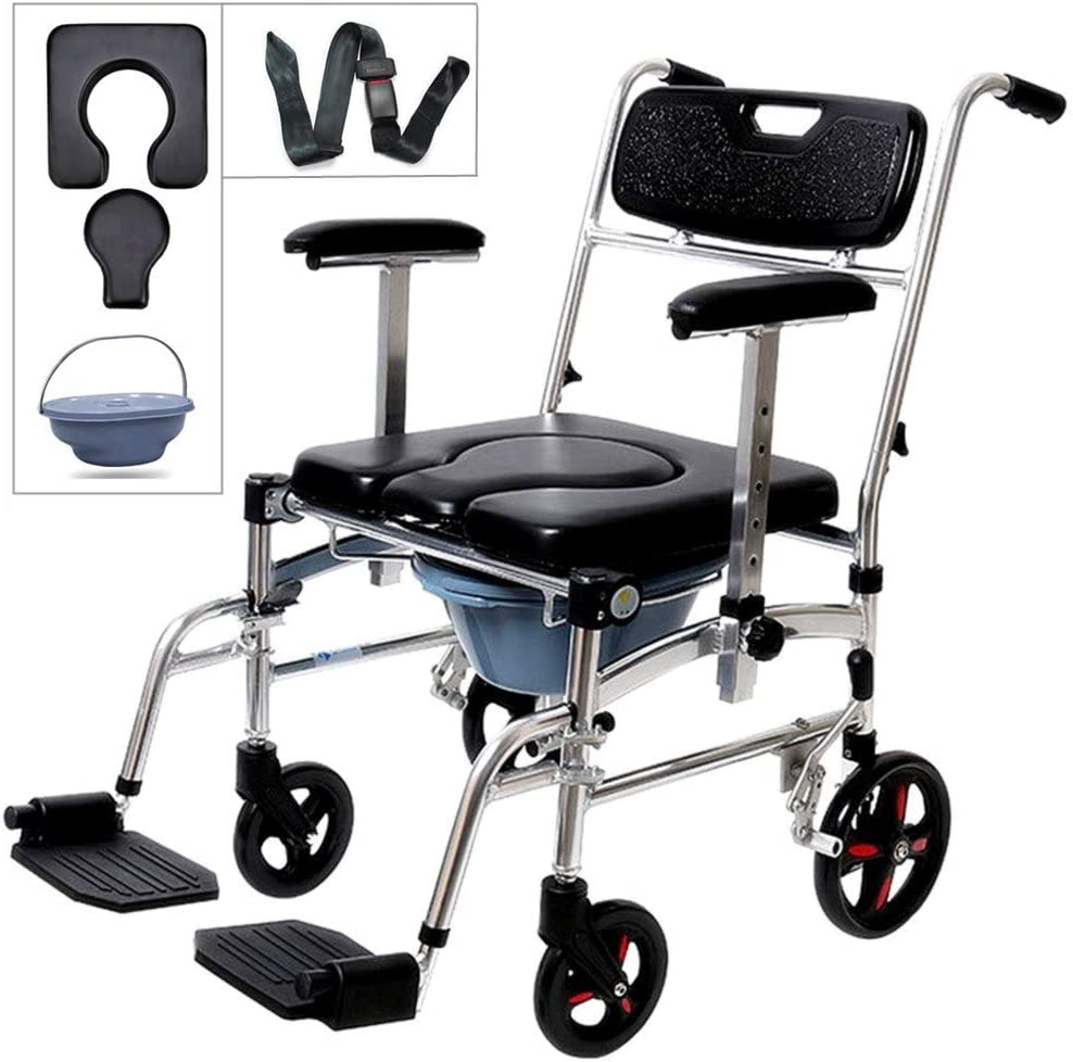 Nurth 4 in 1 Chair Shower Commode Mobile Chair